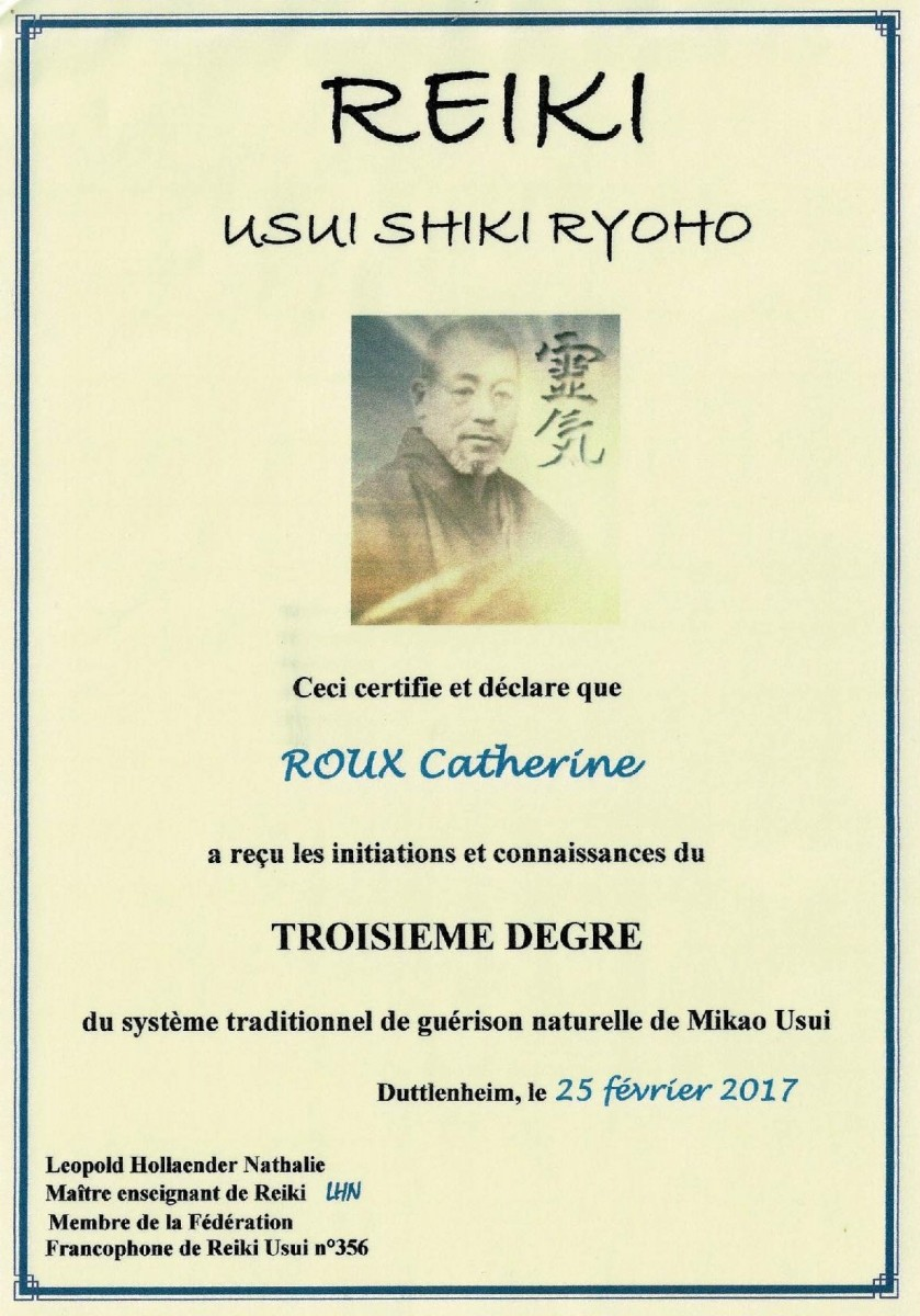 Certification REIKI